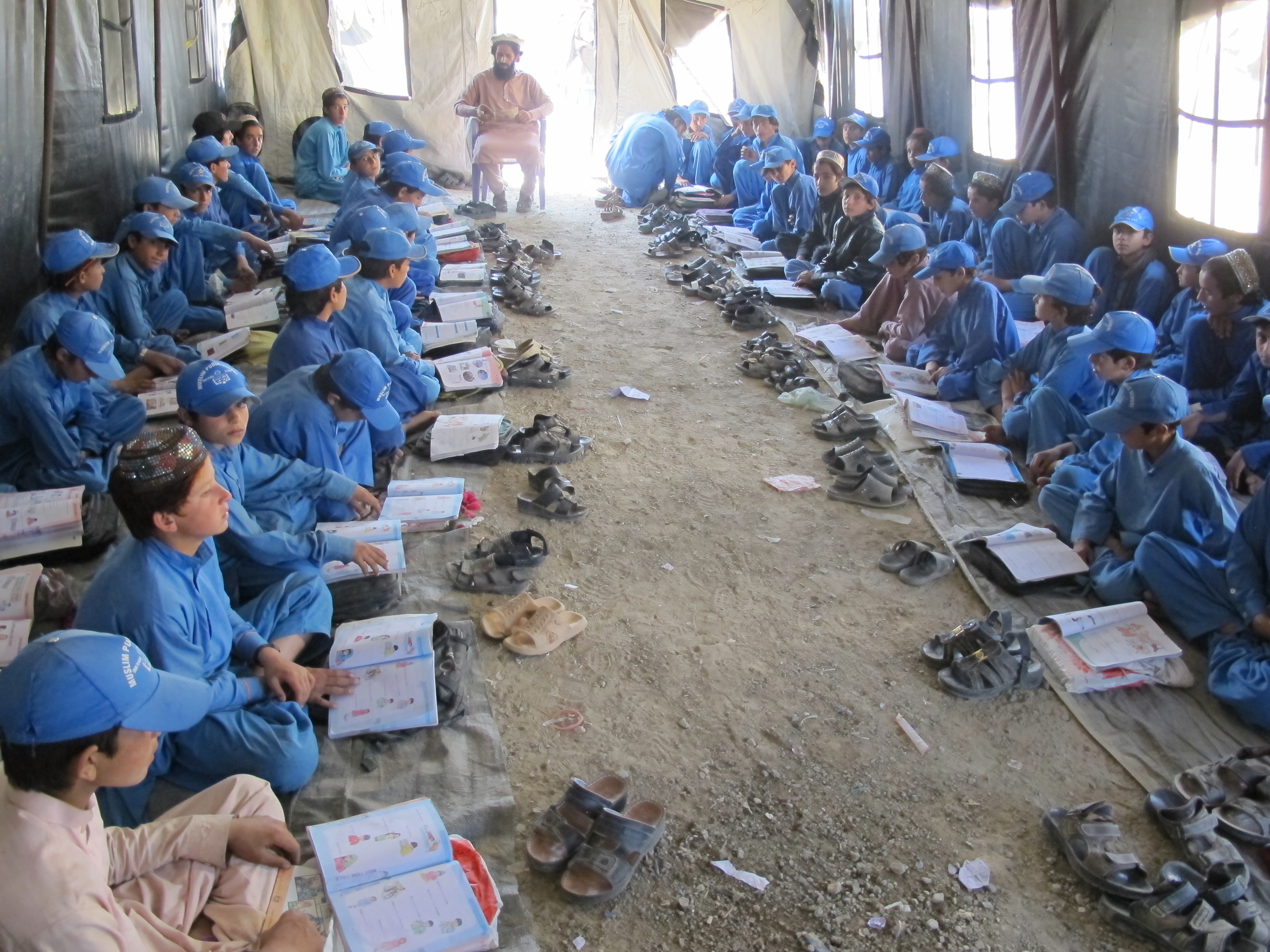 Quandary of Tented School in a Refugee Camp in Paktika