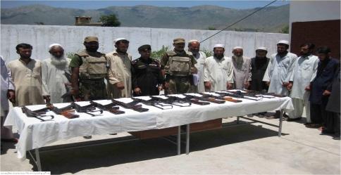 Seventeen militants surrendered unconditionally