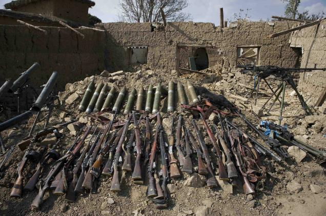 Huge quantity weapons recovered in Bajaur
