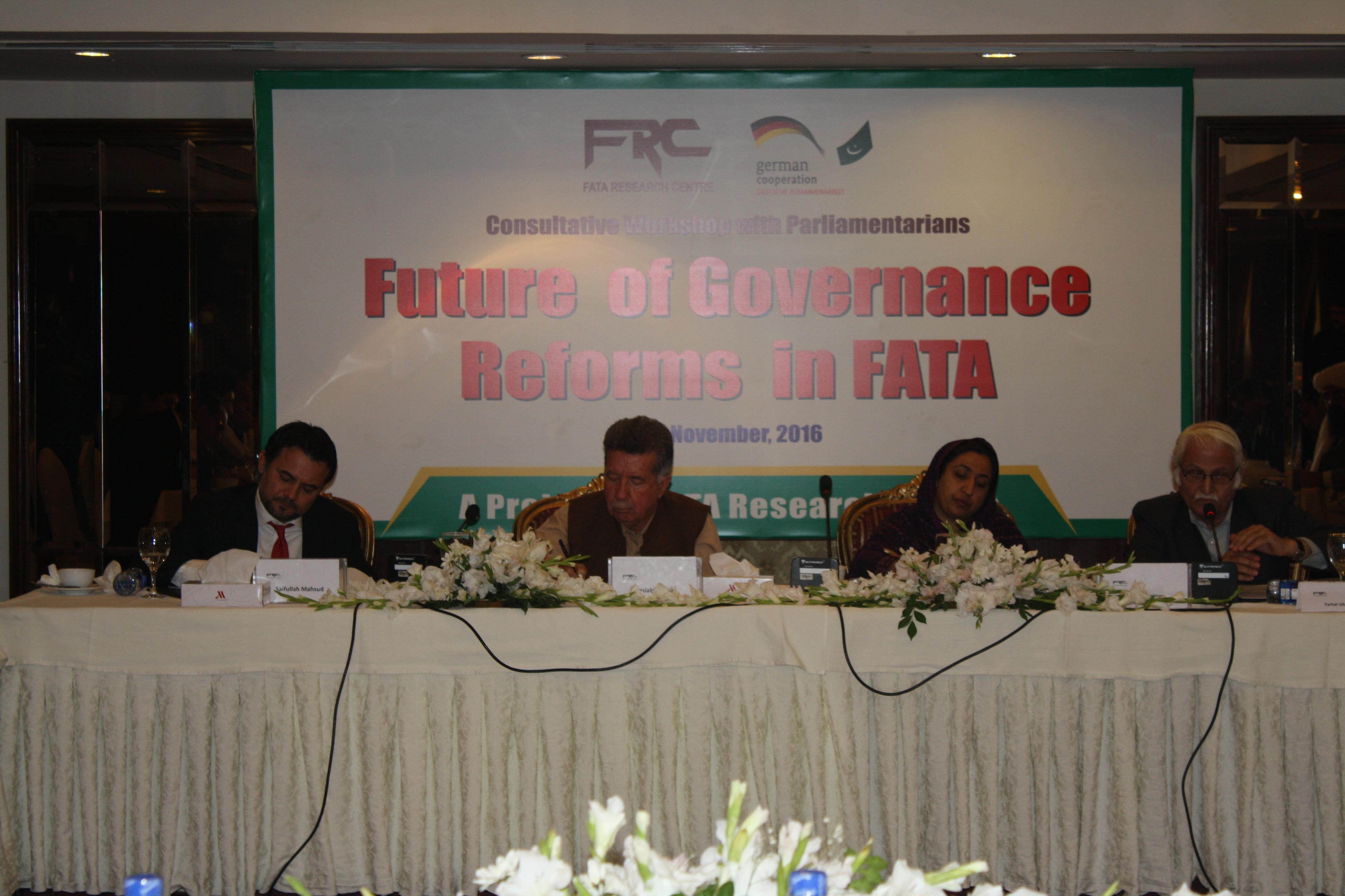 FRC Held Consultative Workshop with FATA & KP Parliamentarians